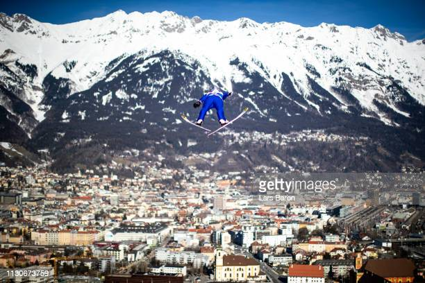 Yoshito Watabe of Japan jumps during the ski jumping training for the Nordic Combined ahead of the FIS Nordic World Ski Championships the on February...