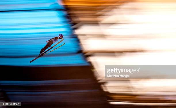 Yoshito Watabe of Japan jumps in the trial round of the Team Sprint for the Nordic Combined during the FIS Nordic World Ski Championships at Bergisel...