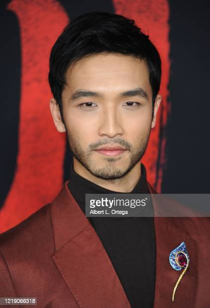 Yoson An arrives for the Premiere Of Disney's Mulan held at Dolby Theatre on March 9 2020 in Hollywood California