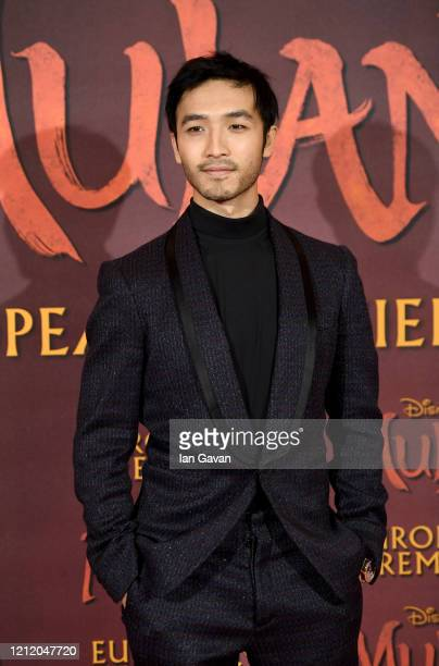 Yoson An attends the European Premiere of Disney's MULAN at Odeon Luxe Leicester Square on March 12 2020 in London England