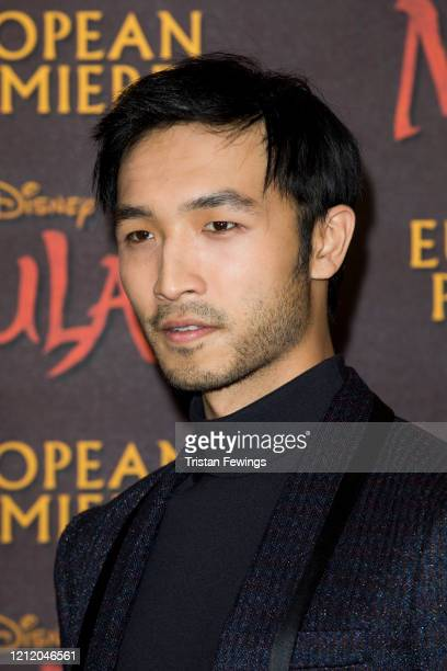 Yoson An attends the Mulan European Premiere at Odeon Luxe Leicester Square on March 12 2020 in London England