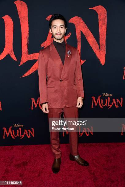 Yoson An attends the premiere of Disney's Mulan at Dolby Theatre on March 09 2020 in Hollywood California