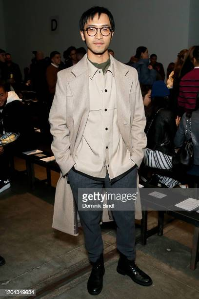 Yoson An attends the Todd Snyder show during New York Fashion Week Men's at Pier 59 Studios on February 05 2020 in New York City