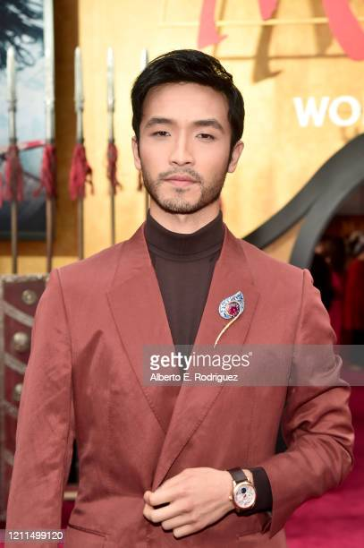 Yoson An attends the World Premiere of Disney's 'MULAN' at the Dolby Theatre on March 09 2020 in Hollywood California
