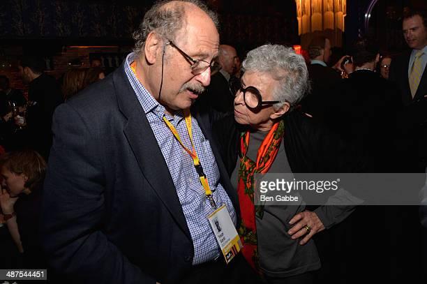 Yossi Bardi and Sylvia Weinstock attend DuJour Magazine's Jason Binn along with Lisa And James Cohen celebration of Arianna Huffington's bestseller...