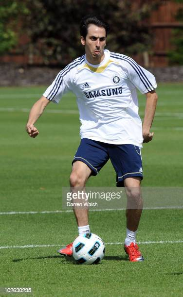 Yossi Benayoun of Chelsea during a training session at the Cobham Training Ground on July 5, 2010 in Cobham, England.
