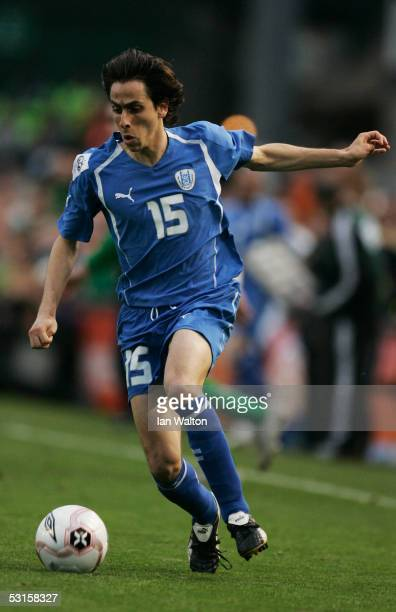 Yossi Benayoun of Israel in action during the Group Four World Cup 2006 qualifying match between Republic of Ireland and Israel at Lansdowne Road on...