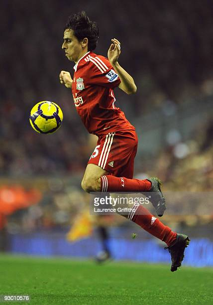 Yossi Benayoun of Liverpool in action during the Barclays Premier League match between Liverpool and Birmingham City at Anfield on November 9 2009 in...