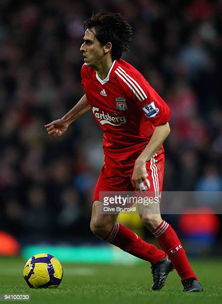 Yossi Benayoun of Liverpool in action during the Barclays Premier League match between Blackburn Rovers and Liverpool at Ewood Park on December 5...