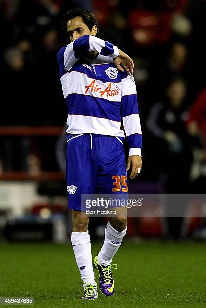 Yossi Benayoun of QPR looks dejected after his team lose the Sky Bet Championship match between Nottingham Forest and Queens Park Rangers at City...