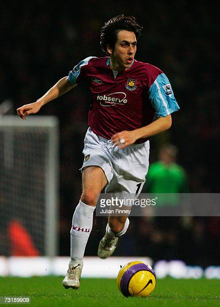 Yossi Benayoun of West Ham United in action during the Barclays Premiership match between West Ham United and Liverpool at Upton Park on January 30,...