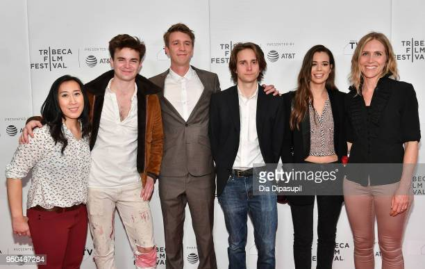 """Yossie Mulyadi, Spencer Bang, Thomas Mann, Matthew Brown, Laia Costa and Rae Becka attend the screening of """"Maine"""" during the 2018 Tribeca Film..."""