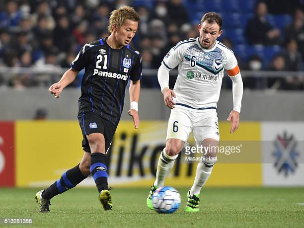 Yosuke Ideguchi of Gamba Osaka in action during the AFC Champions League Group G match between Gamba Osaka and Melbourne Victory at Suita City...