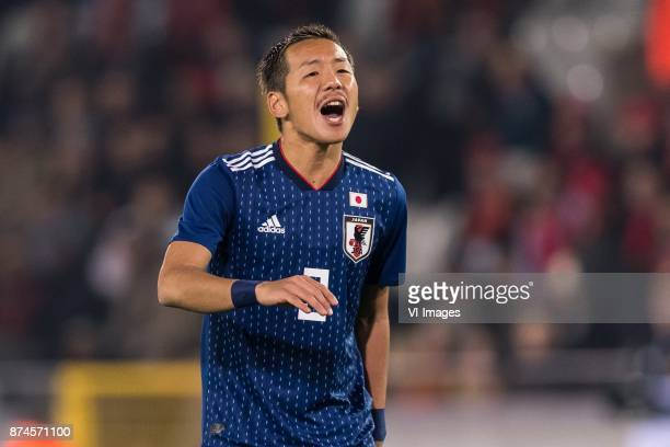 Yosuke Ideguchi of Japan during the friendly match between Belgium and Japan on November 14 2017 at the Jan Breydel stadium in Bruges Belgium
