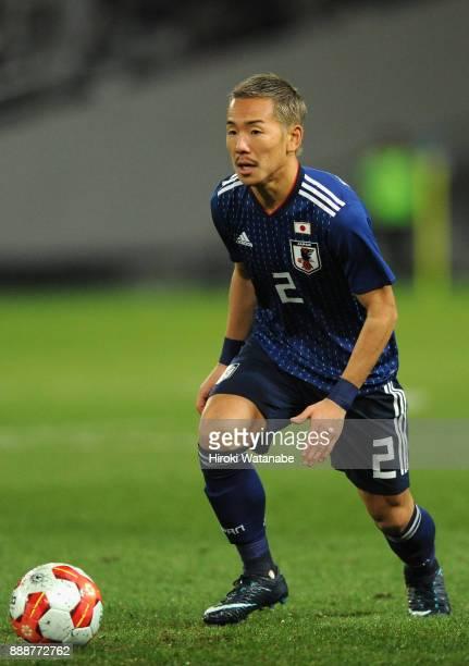 Yosuke Ideguchi of Japan in action during the EAFF E1 Men's Football Championship between Japan and North Korea at Ajinomoto Stadium on December 9...