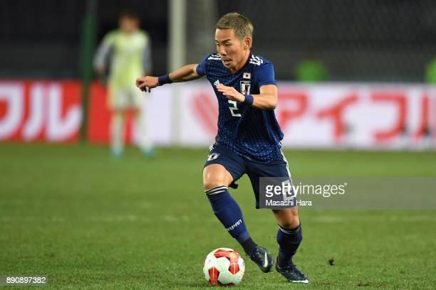 Yosuke Ideguchi of Japan in action during the EAFF E1 Men's Football Championship between Japan and China at Ajinomoto Stadium on December 12 2017 in...