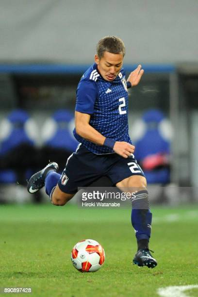 Yosuke Ideguchi of Japan in action during the EAFF E1 Men's Football Championship between Japan and China at Ajinomoto Stadium on December 12 2017 in...