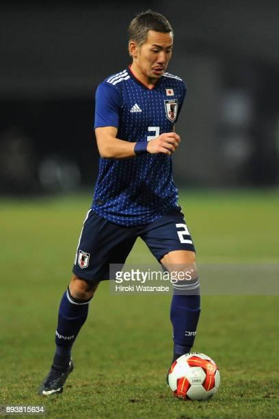 Yosuke Ideguchi of Japan in action during the EAFF E1 Men's Football Championship between Japan and South Korea at Ajinomoto Stadium on December 16...