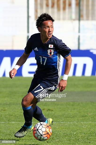 Yosuke Ideguchiof Japan in action during on the Toulon Tournament between Japan and Portugal on May 23 2016 in Aubagne France