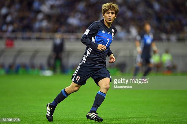Yosuke Kashiwagi of Japan in action during the 2018 FIFA World Cup Qualifiers match between Japan and Iraq at Saitama Stadium on October 6 2016 in...