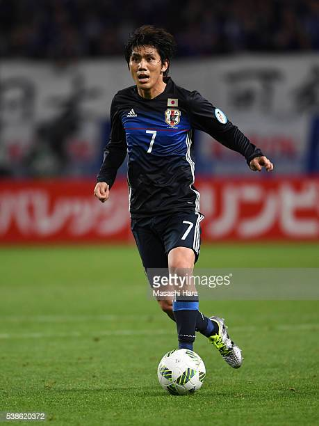 Yosuke Kashiwagi of Japan in action during the international friendly match between Japan and Bosnia And Herzegovina at the Suita City Football...