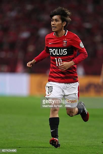 Yosuke Kashiwagi of Urawa Red Diamonds during the JLeague Championship Final second leg match between Urawa Red Diamonds and Kashima Antlers at...