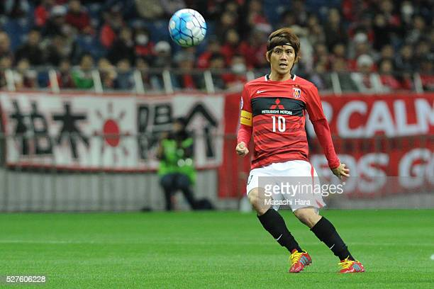 Yosuke Kashiwagi of Urawa Red Diamonds in action during the AFC Champions League Group H match between Urawa Red Diamonds and Pohang Steelers at the...