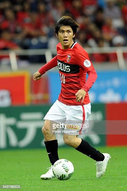 Yosuke Kashiwagi of Urawa Red Diamonds in action during the JLeague match between Urawa Red Diamonds and Kashiwa Reysol at the Saitama Stadium on...