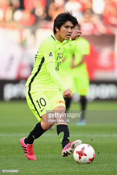 Yosuke Kashiwagi of Urawa Red Diamonds in action during the JLeague J1 match between Kashima Antlers and Urawa Red Diamonds at Kashima Soccer Stadium...