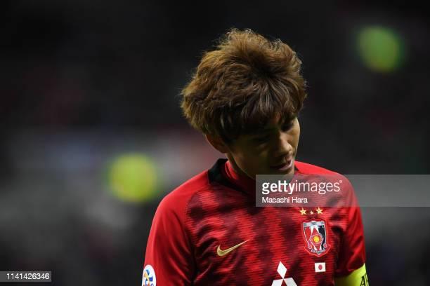Yosuke Kashiwagi of Urawa Red Diamonds shows frustration during the AFC Champions League Group G match between Urawa Red Diamonds and Jeonbuk Hyundai...