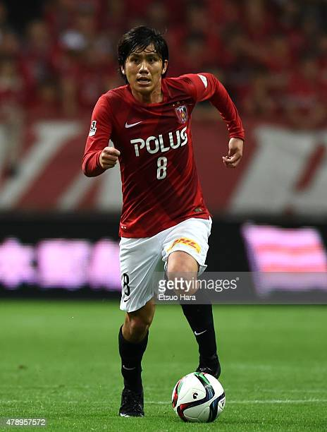 Yosuke Kashiwagi of Urawa Reds in action during the JLeague match between Urawa Red Diamonds and Albirex Niigata at Saitama Stadium on June 27 2015...
