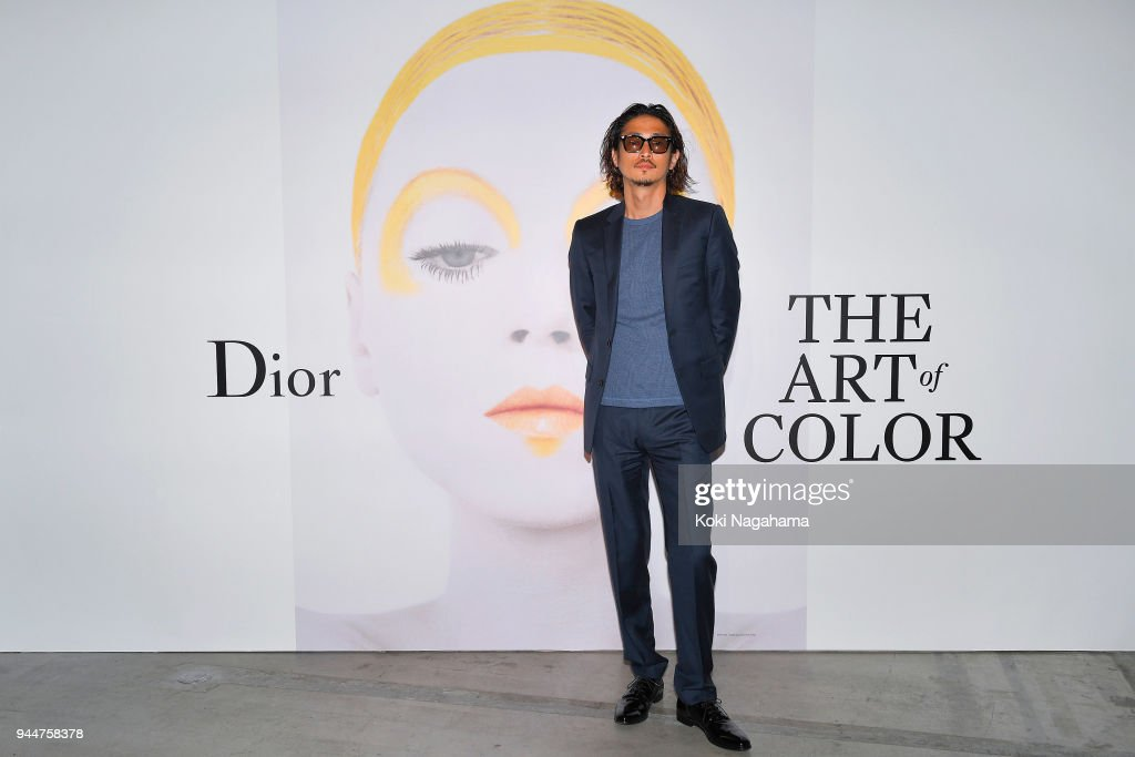 Yosuke Kubozuka attends Dior's The Art of Color Press Preview on April 11, 2018 in Tokyo, Japan.