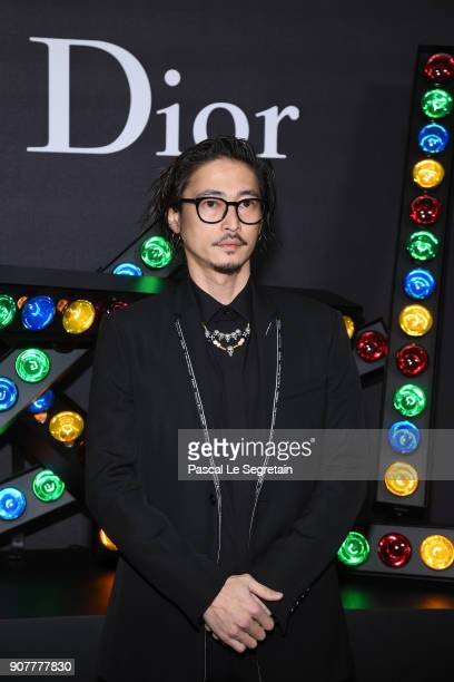 Yosuke Kubozuka poses at Dior Homme Menswear Fall/Winter 20182019 show as part of Paris Fashion Week at Grand Palais on January 20 2018 in Paris...