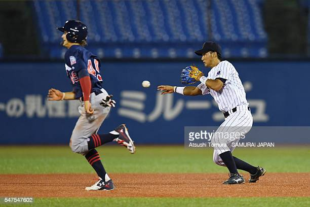 Yota Kyoda of Japan in action in top of the third inning on the day 3 match between Japan and USA during the 40th USAJapan International Collegiate...