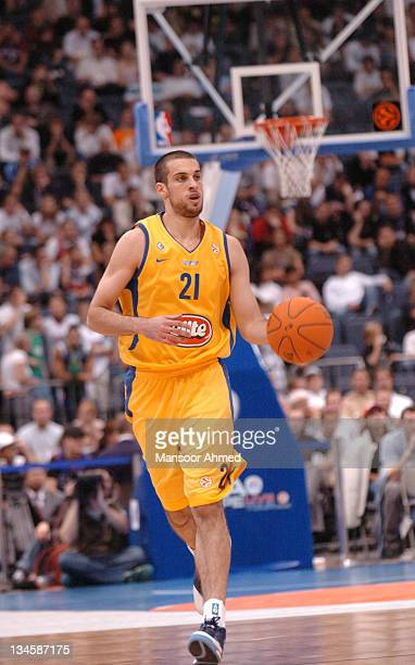 Yotam Halperin of Macabbi Tel Aviv in control of the basketball during the NBA Europe Live Tour presented by EA Sports on October 10 2006 at the...