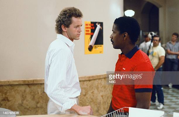 ST ELSEWHERE You Again Episode 18 Pictured David Morse as Dr Jack Morrison Denzel Washington as Dr Philip Chandler Photo by Jack Hamilton/NBCU Photo...