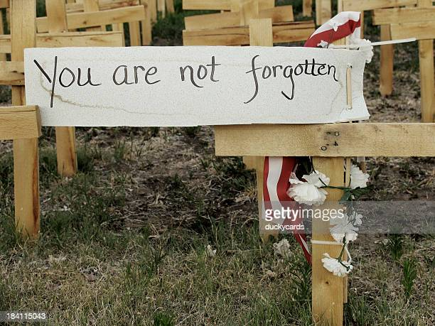 you are not forgotten - memorial day remembrance stock pictures, royalty-free photos & images