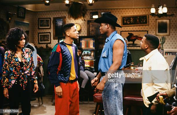 AIR 'You Bet Your Life' Episode 3 Pictured Olivia Brown as Lola Will Smith as William 'Will' Smith Riddick Bowe as Himself Alfonso Ribeiro as Carlton...