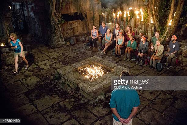 You Call We'll Haul Jeff Probst and the other survivors watch Kass McQuillen head to the jury during the eighth episode of SURVIVOR Wednesday Nov 11...