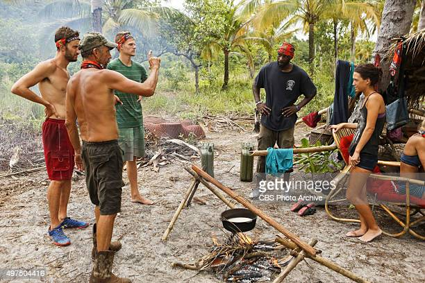 'You Call We'll Haul' Stephen Fishbach Keith Nale Spencer Bledsoe Jeremy Collins and Ciera Eastin during the eighth episode of SURVIVOR Wednesday Nov...