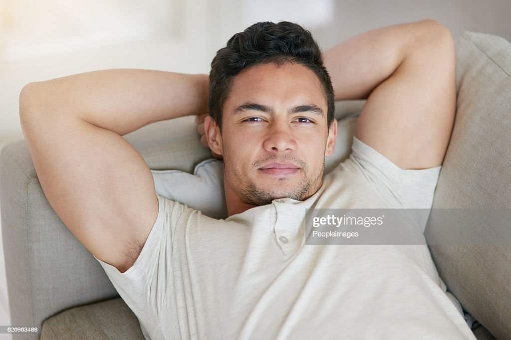You Can Call Me The Sofa King Stock Photo