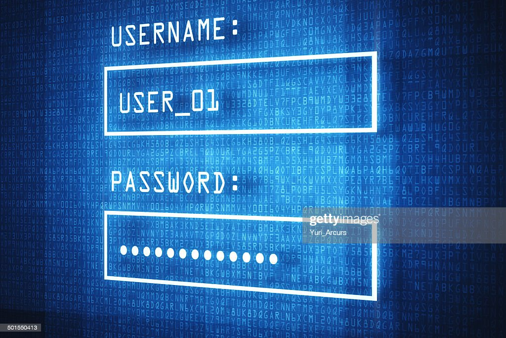You can log into your account worldwide! : Stock Photo