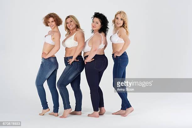 you can wear jeans despite your size. debica, poland  - knackiger po stock-fotos und bilder