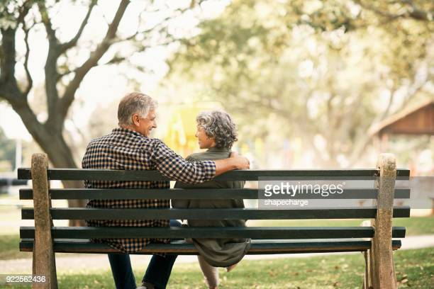 you can't outgrow true love - bench stock pictures, royalty-free photos & images