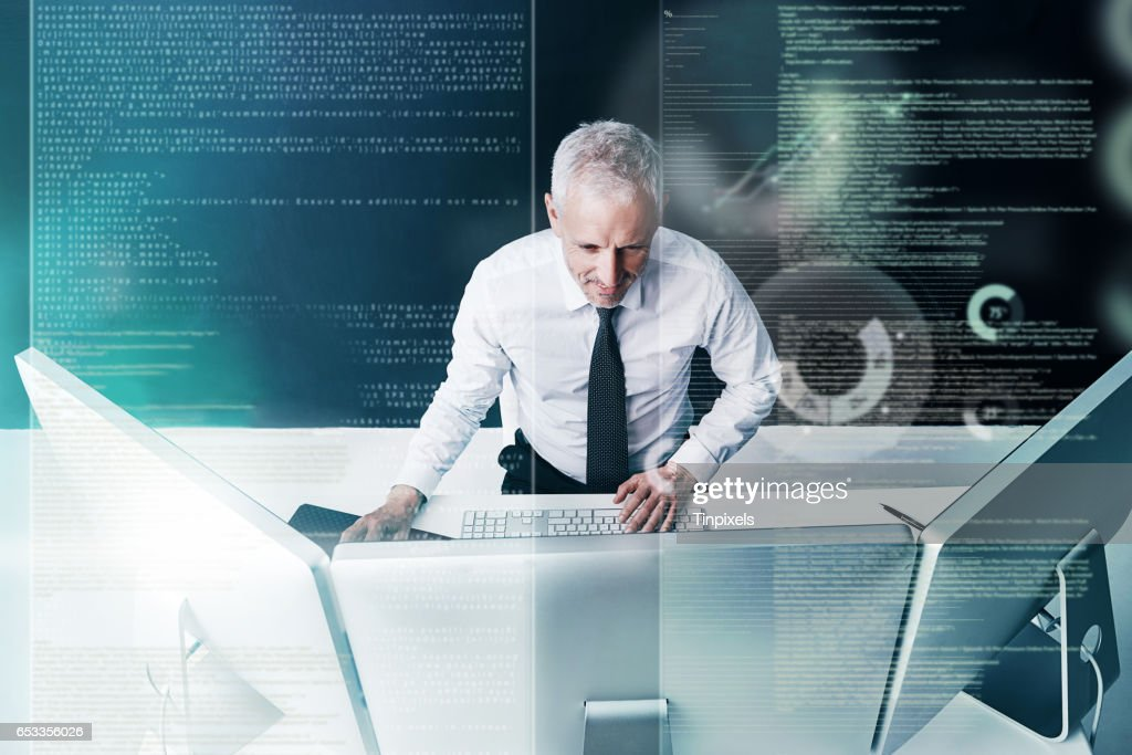 You either embrace technology or get left behind : Stock Photo