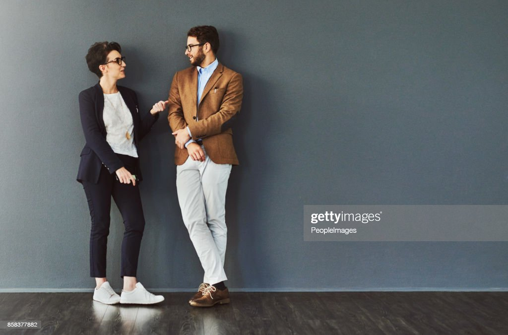 You gain so much from mingling : Stock Photo