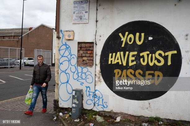 You Have Just Passed street art in Birmingham United Kingdom Street art in the East End of London is an ever changing visual enigma as the artworks...