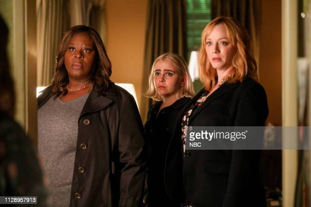 GIRLS 'You Have Reached The Voicemail of Leslie Peterson' Episode 203 Pictured Retta as Ruby Hill Mae Whitman as Annie Marks Christina Hendricks as...