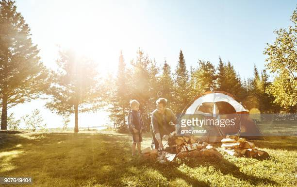 you have to get all the wood in order - camping stock photos and pictures
