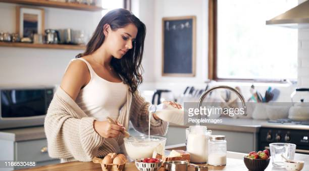 you haven't started the day until you've made pancakes - routine stock pictures, royalty-free photos & images